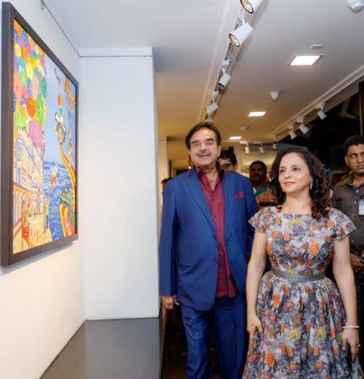 Actor Shatrugan Sinha Inaugurates Art Exhibition Of Sangeeta Babani, At Jehangir Art Gallery