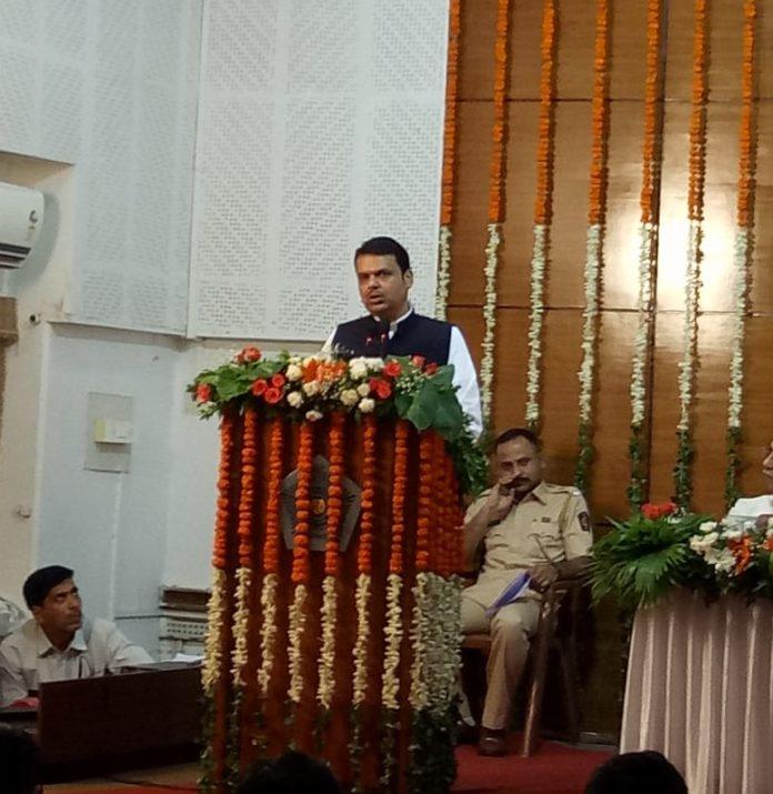 CM Devendra Fadnavis Reached At Mumbai Police Eid Milan Party