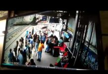 Woman Passenger Jump Off in Front of The Local Train