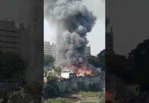 Fire Breaks Out Near Shivaji Nagar in Pune, Maharashtra
