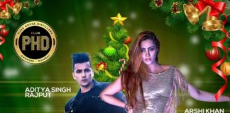 Celebrity Christmas Party With Arshi Khan and Aditya Singh