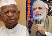 Support to Anna Hazare's Agitation