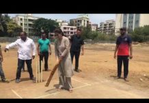 Urmila Matondkar Playing Cricket With Youngsters